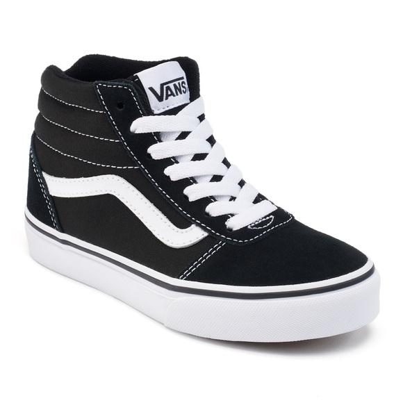 Black High Top Vans (Women\u2019s 8/ Youth 6)